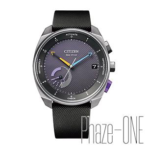 シチズン エコ・ドライブ Riiiver ラバーバンド Bluetooth ソーラー メンズ 腕時計 BZ7007-01E