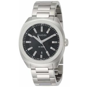 【あす楽対応】 グッチ GG2570 ブラック 文字盤 クォーツ メンズ 腕時計 YA142301