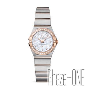 新品 即日発送可 オメガ コンステレーション ブラッシュ ダイヤ クォーツ レディース 腕時計 123.25.24.60.55.001