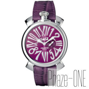 新品 即日発送可 ガガミラノ 46MM パープル クォーツ ユニセックス 腕時計 5084.05