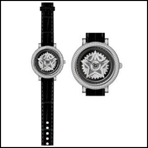 新品 即日発送 アンコキーヌ MINI STAR SERIES ミニスターシリーズ スワロフスキー シルバー ブラック グルグル メンズ レディース 腕時計