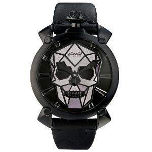 新品 即日発送可 ガガミラノ マヌアーレ48MM バイオニックスカル 世界限定500本 手巻き 時計 メンズ 腕時計 5062.02S