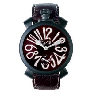 新品 即日発送可 ガガミラノ マヌアーレ48MM 手巻き 時計 メンズ 腕時計 5012.04S