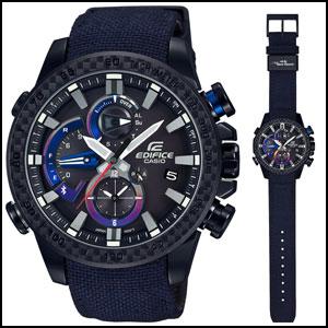新品 即日発送 カシオ エディフィス モバイルリンク 限定モデル ソーラー 時計 メンズ 腕時計 EQB-800TR-1AJR