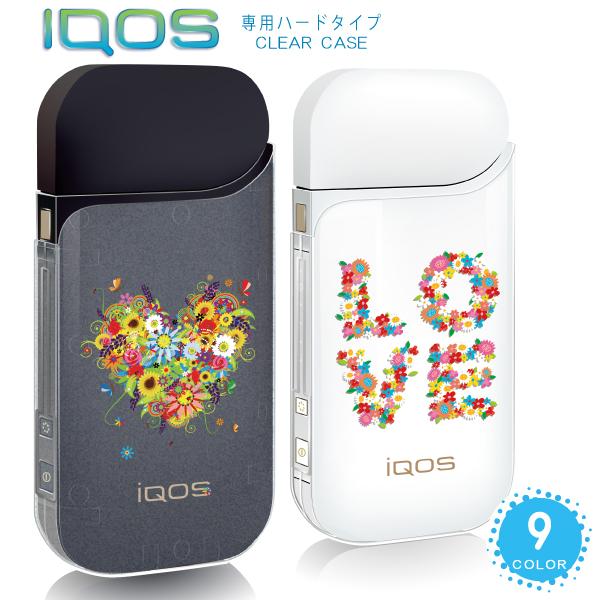 IQOSケース アイコスケース 送料無料 IQOS ケースかわいい iqos おしゃれ アイコス カバー花柄ハート フラワー ハードケース