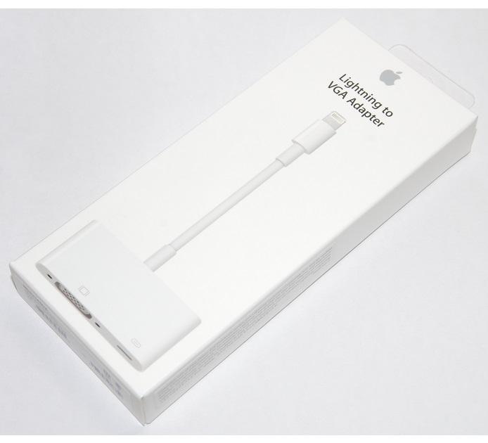☆純正品を提供いたします! ○メーカー保証付き・領収書発行・後払い可能○ アップル純正 Apple Lightning - VGAアダプタ MD825AM/A 国内純正品  iPhone/iPad/iPod対応 送料無料【メール便の場合】