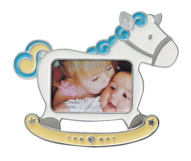 小さな乗り物シリーズ フォトフレーム ミニサイズ MB72-S2 ラドンナ かわいい ギフ_包装 木馬 ベビー 写真立て プチプレ 日本最大級の品揃え LADONNA プレゼント ポニー 乗り物 男の子 赤ちゃん カラフル 子供 卓上