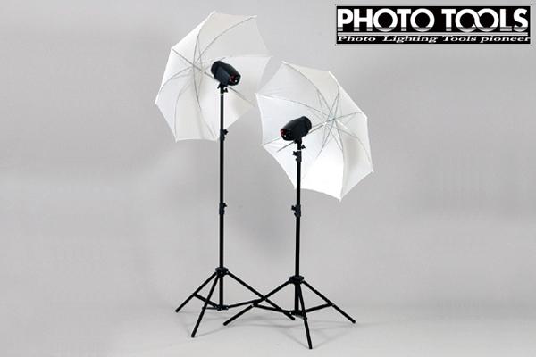 送料無料 モノブロック TTC-180 アンブレラ 2灯セット  ●フラッシュ 撮影ライト スタジオ照明 p049