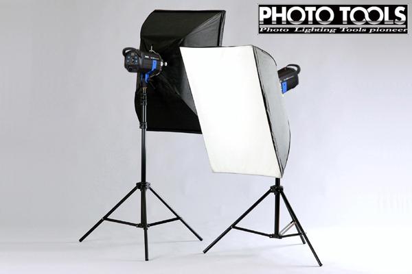 送料無料 ストロボ MS-PRO 1000 ソフトボックス 2灯セット  ●撮影機材 照明 商品撮影 p102