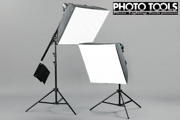 送料無料 モノブロック TTC-180 ブーム 60cm ソフトボックス 2灯セット  ●撮影セット 撮影キット p236
