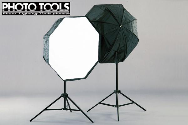 送料無料 モノブロック TTC-180 アンブレラ型 80cm オクタゴン ソフトボックス 2灯セット ●撮影セット 撮影キット p293