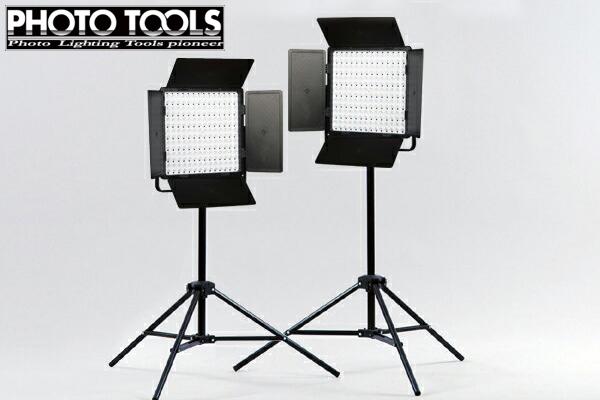 送料無料 LED撮影用ライト LED-PRO スタンド 2灯セット  ●撮影セット 撮影キット p402