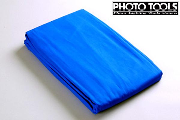 商品撮影 人物撮影などへ! 背景紙 背景布 バックグラウンドクロス ブルー 3×6m p77d