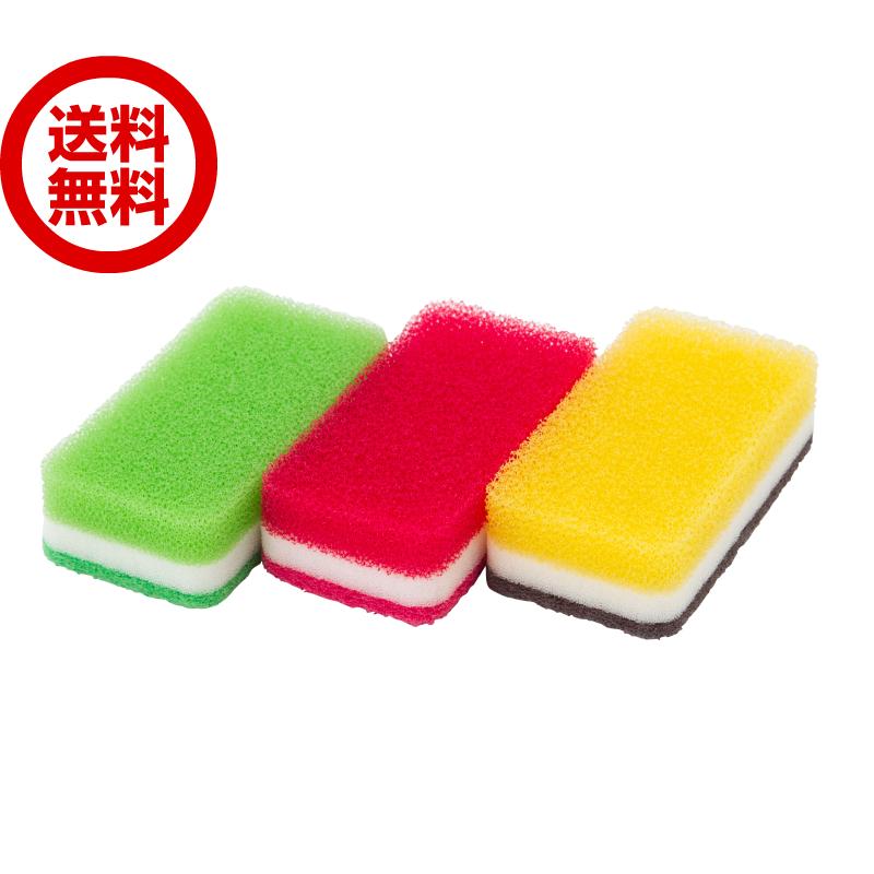 送料無料 新色 DUSKIN 引き出物 食器用 丈夫で長持ち 未使用 ダスキン台所用スポンジ3色セット抗菌タイプ キッチン