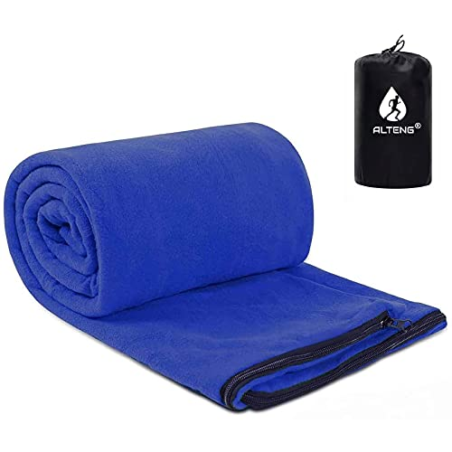 寝袋 インナーシュラフ フリース 物品 店内全品対象 毛布 ブランケット 封筒型 ポータブル シュラフインナー 超軽量 インナーシーツ 膝掛け 多機能 収納