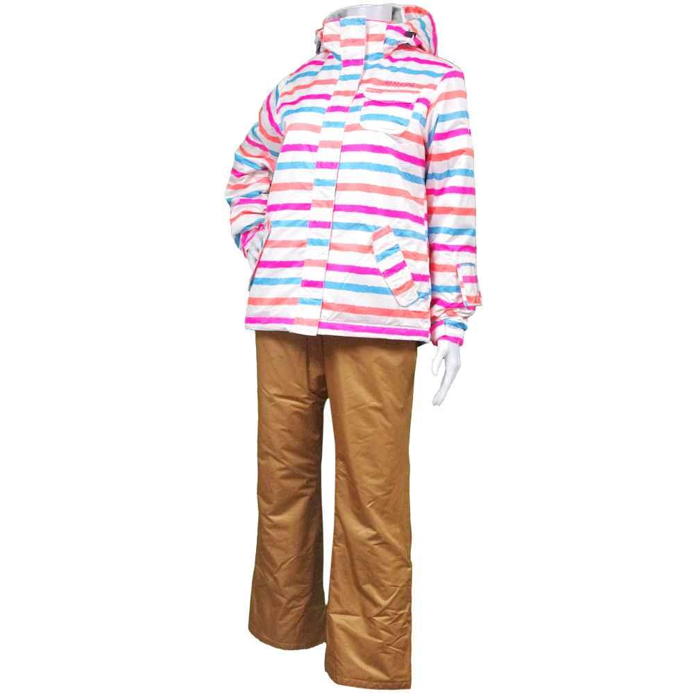【送料無料】レディース オンヨネスキーウエア上下 (ホワイト/サンド Mサイズ Lサイズ Oサイズ) レディース スキーウェア 全2色