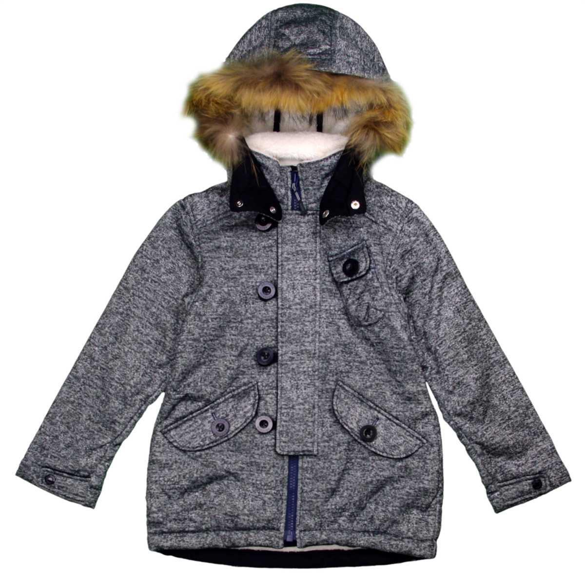 男女兼用 オンヨネ ボンディンフィールドジャケット型 裏ボア ラクーンファー付 防寒ジャケット サンプル品 (ブラック 130cm) ガールズ キッズ ジャンパー・コート 全3色