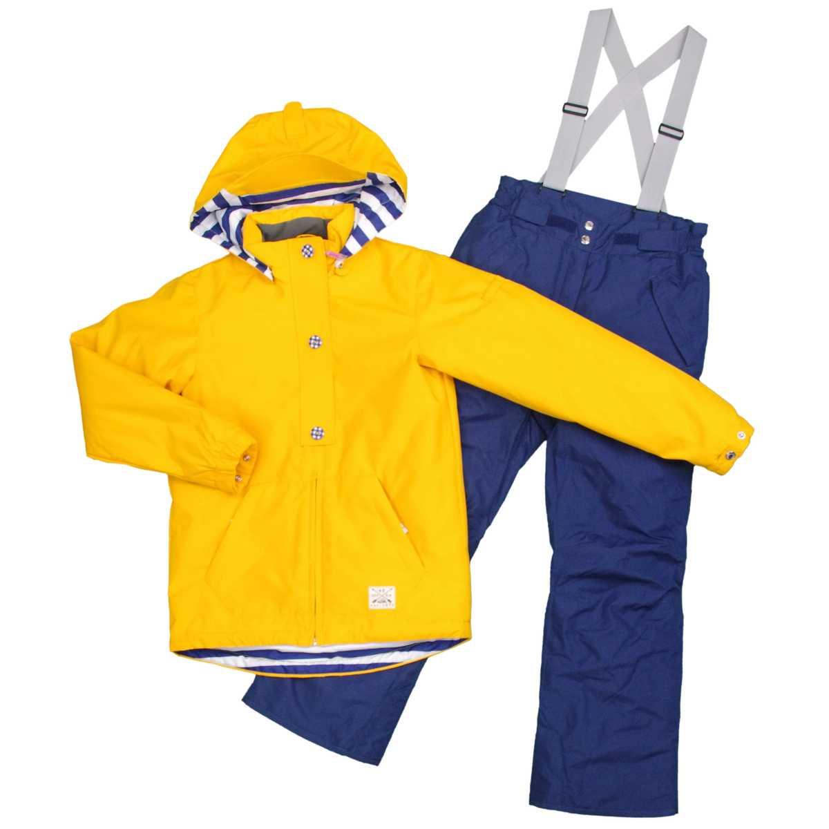 女の子オンヨネスキーウェア上下セット サイズ調整機能付スキーウェア サンプル品 (イエロー/ネイビー 130cm 140cm 150cm 160cm) ガールズ ジュニア スキーウェア 全4色