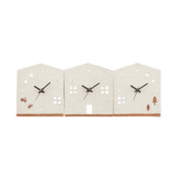 【送料無料】【25%OFF!】3つのKizuna時計 HOUSE両親プレゼント プレゼント 結婚式 親ギフト お祝い 披露宴 ウェディング ご両親贈呈アイテム 時計 記念品