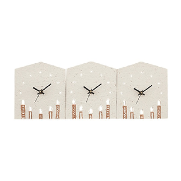 【送料無料】【25%OFF!】3つのKizuna時計 CANDLE両親プレゼント プレゼント 結婚式 親ギフト お祝い 披露宴 ウェディング ご両親贈呈アイテム 時計 記念品