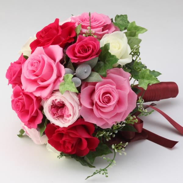 【送料無料】【20%OFF!】ブーケ 赤花 プリザーブドフラワー ギフト プレゼント 贈り物 お礼 誕生日 記念日 母の日 入社 昇進 退職祝い