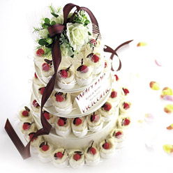 【60コ】プチギフト/ウェルカムボード【送料無料】ガレットオランジュ ケーキタオル(ホワイト)60個セット(ギフト 名入れ 結婚式 二次会 パーティー お礼 ウェディング 披露宴 プレゼント 雑貨 贈り物)