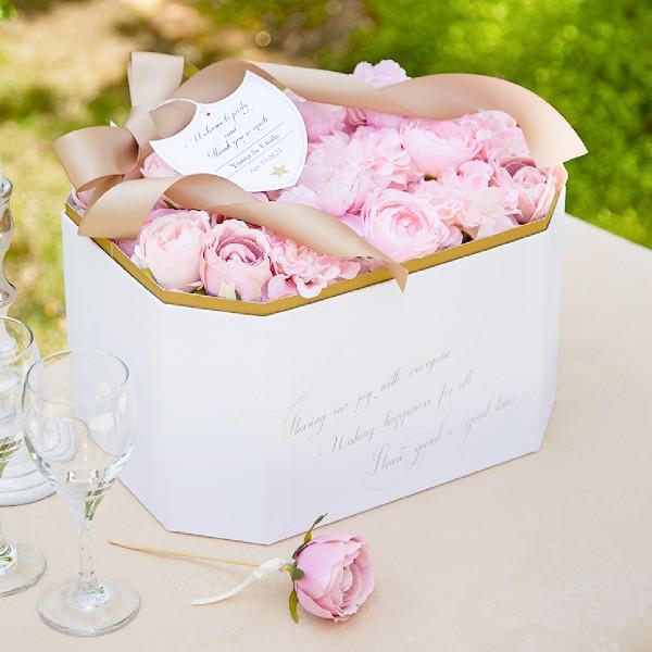 【28コ】プチギフト/ウェルカムボードFleur rose bijou 28本セット【フルールローズビジュ】(結婚式 二次会 ウェディング 披露宴 名入れ 耳かき)
