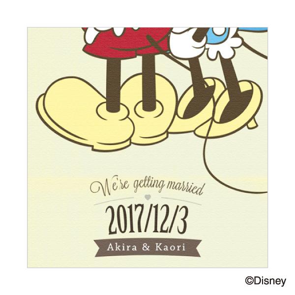 """【送料無料】ウェルカムボード""""ディズニー"""" MM-3/ふたり寄りそってプレゼント 結婚式 ギフト お祝い 披露宴 ウェディング ウエルカムボード ディズニー"""