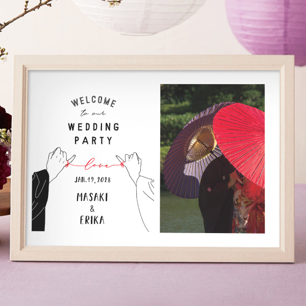 フォトグラフィックボード 額付ウエルカムボード 当店は最高な 低価格 サービスを提供します 前撮り 写真 結婚式 ウェディング 記念品 贈り物 プレゼント ウエルカムスペース お祝い ギフト 披露宴 縁結び
