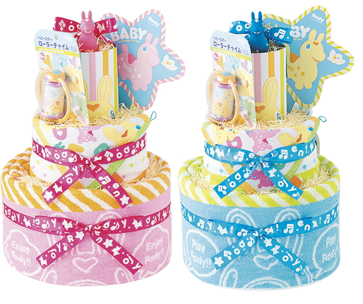 出産祝におむつケーキ人気の【ロディのおむつケーキ】