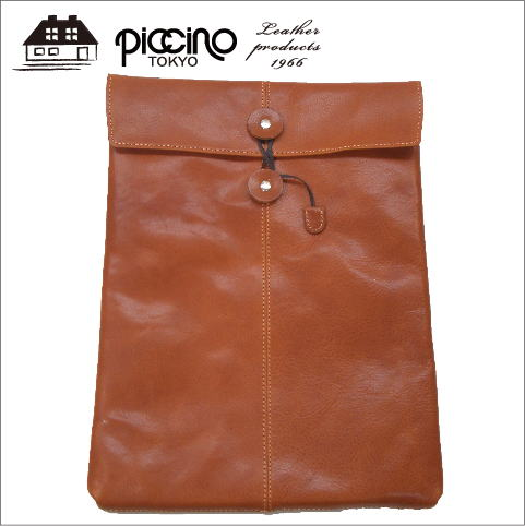 【日本製】書類ケース クラッチ バッグ インバッグ ビジネス A4 サイズ 封筒 縦型 新生活 就職祝い 本革 ナッパレザー イタリアンレザー ギフトラッピング ピッチーノ piccino A-20NL