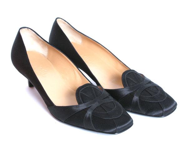 【送料無料】HERMES エルメス H レディース シューズ シルク パンプス NIXE NOIR ブラック フォーマル 靴