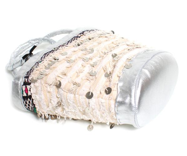 ENSHALLAH Shalla knitted basket bag silver ladies bag