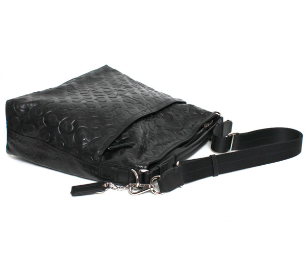 COACH coach men's shoulder bags op art leather East / West Cross body satchel coach 70249-SV/BK