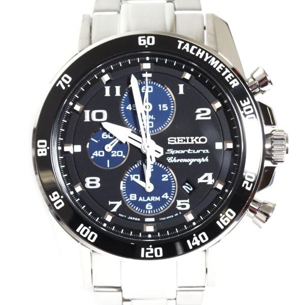 【送料無料】SEIKO セイコー メンズ腕時計 Sportura スポーチュラ クロノグラフ SNAE63P1 ブラック文字盤 メンズ 時計