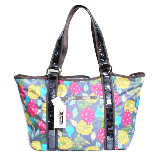 LeSportsac レスポートサック トートバッグ SEQUIN CARRY ALL TOTE キャリーオールトート 8119-M054 TWILLY GLIMMER ティリーグリマー スパンコール