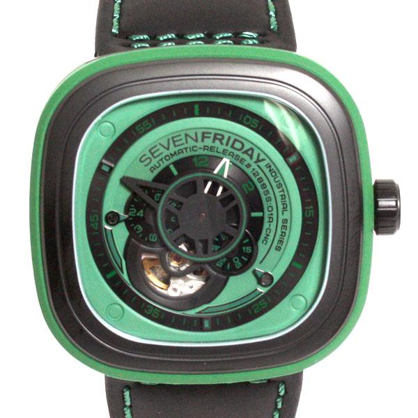 【送料無料】【新品】【正規品】SEVENFRIDAY セブンフライデー メンズ 腕時計 SFP1/05 グリーン×ブラック