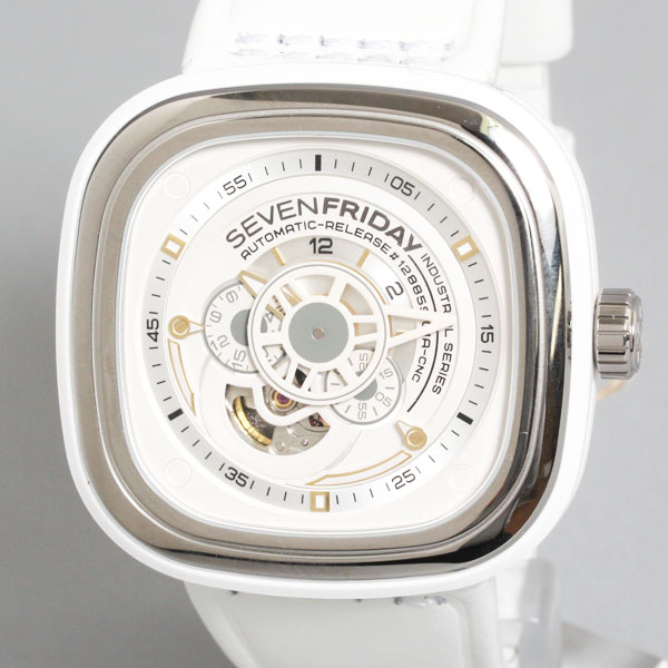 【送料無料】【新品】【正規品】SEVENFRIDAY セブンフライデー メンズ 腕時計 SFP1/02 ホワイト×シルバー