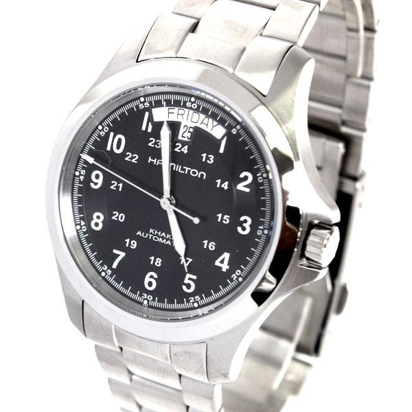 【送料無料】HAMILTON ハミルトン 腕時計 カーキキング Khaki King H64455133 ブラック オート