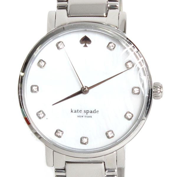 【新品】 kate spade ケイトスペード 腕時計 GRAMERCY 1YRU0006 022 シルバー ホワイト文字盤 レディース