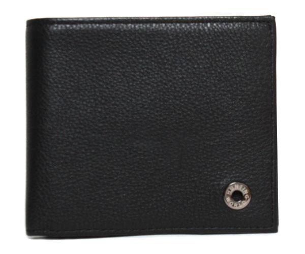 HUNTING WORLD ハンティングワールド 二つ折財布 207-371 A KASHGAR BLACK ブラック メンズ