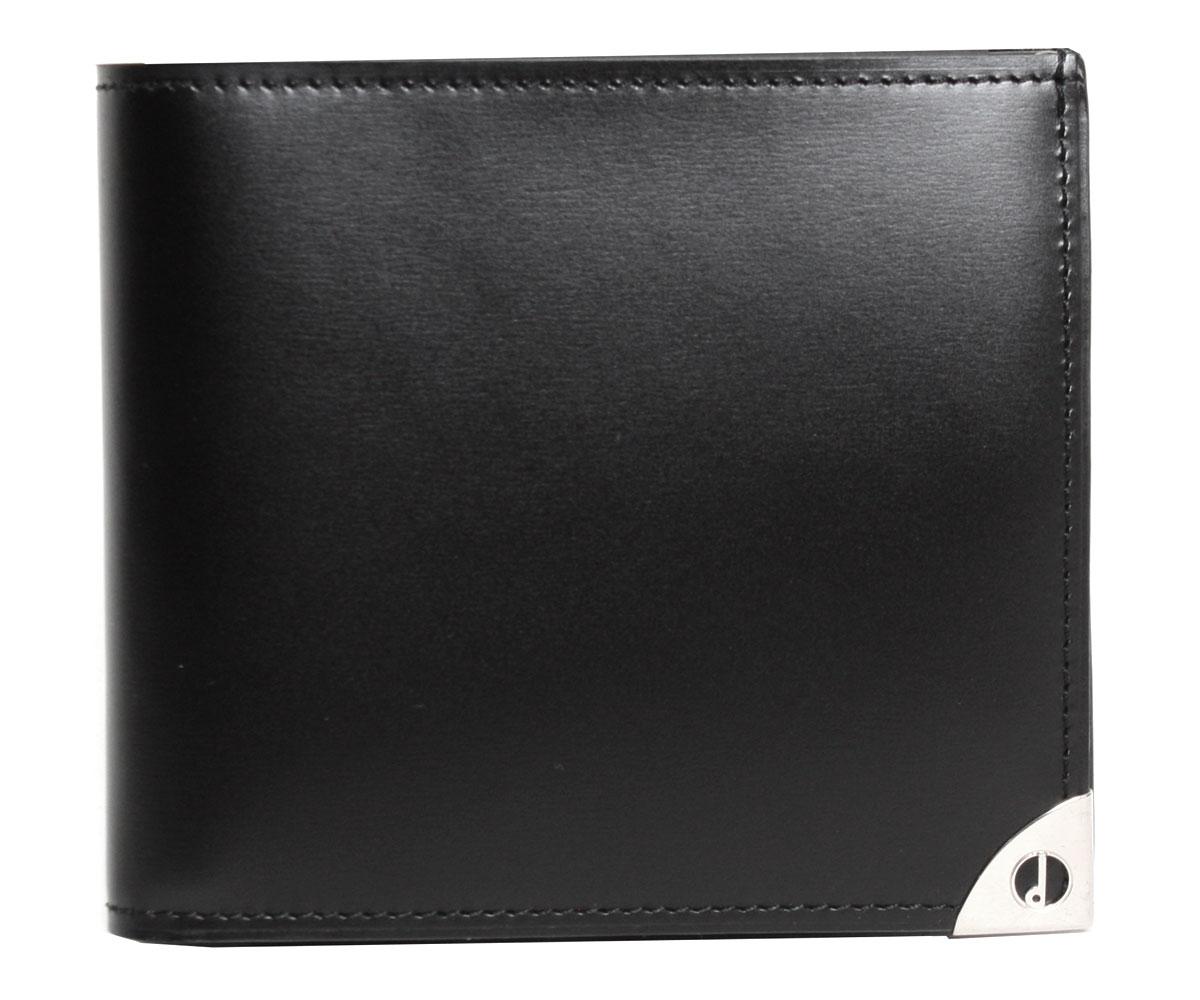 【送料無料】dunhill ダンヒル メンズ 二つ折り財布 WN3010Aブラック