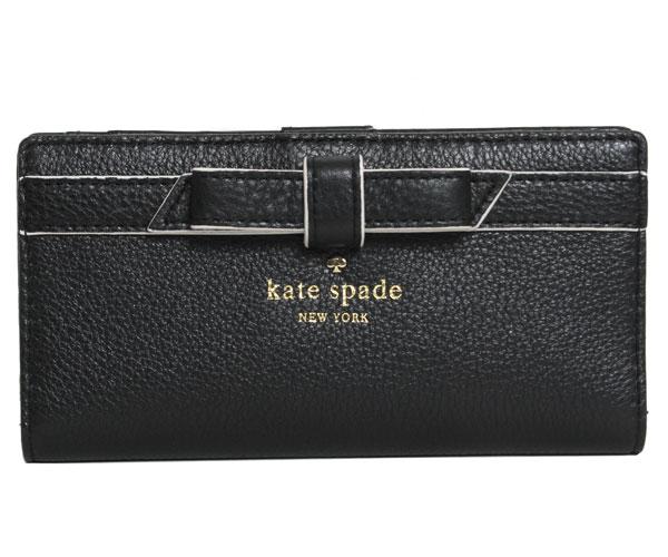 kate spade ケイトスペード COBBLE HILL BOW STACY コブルヒル ボウ ステイシー 長財布 レディース PWRU3942 001 BLACK ブラック