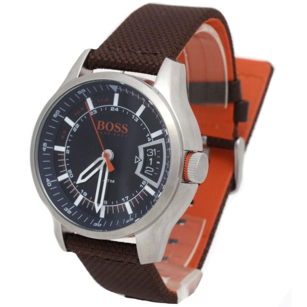 BOSS HUGO BOSS ボス ヒューゴボス 腕時計 1550002 Orange Cape Town メンズ ラウンド ブラック ブラウンベルト