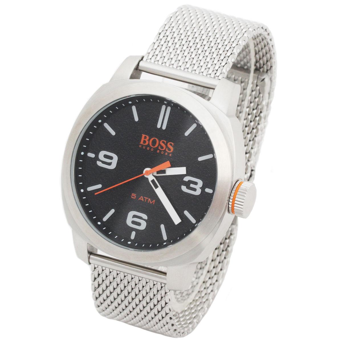BOSS HUGO BOSS ボス ヒューゴボス 腕時計 1550013 Orange Cape Town メンズ ラウンド ブラック シルバー
