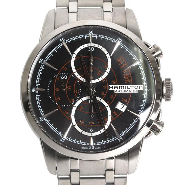 【送料無料】HAMILTON ハミルトン 腕時計 RAILROAD AUTO CHRONO レイルロード オート メンズ シルバー/ブラック文字盤 H40656131 メンズ 腕時計