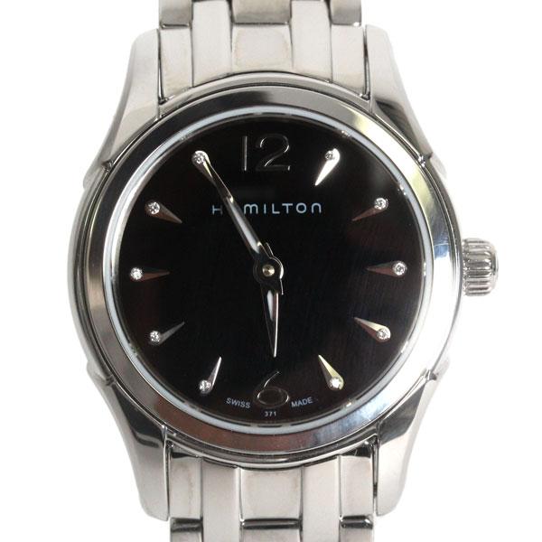 【送料無料】HAMILTON ハミルトン レディース 腕時計 JAZZ MASTER ジャズマスター ダイヤ ブラック文字盤 シルバー H32261137