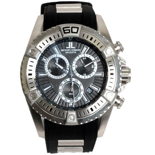 【新品】【送料無料】JACQUES LEMAN ジャックルマンクロノグラフ 腕時計 1-1805AF クオーツ メンズ 時計