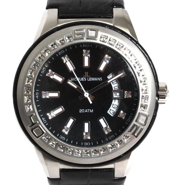 【新品】【送料無料】JACQUES LEMAN ジャックルマン 腕時計 1-1776A クオーツ メンズ レディス 時計 スワロフスキー