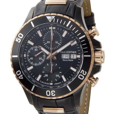 【新品】【送料無料】JACQUES LEMAN ジャックルマンケビンコスナー ダイバーズ ウォッチ クロノグラフ腕時計 101A 世界限定333本 自動巻
